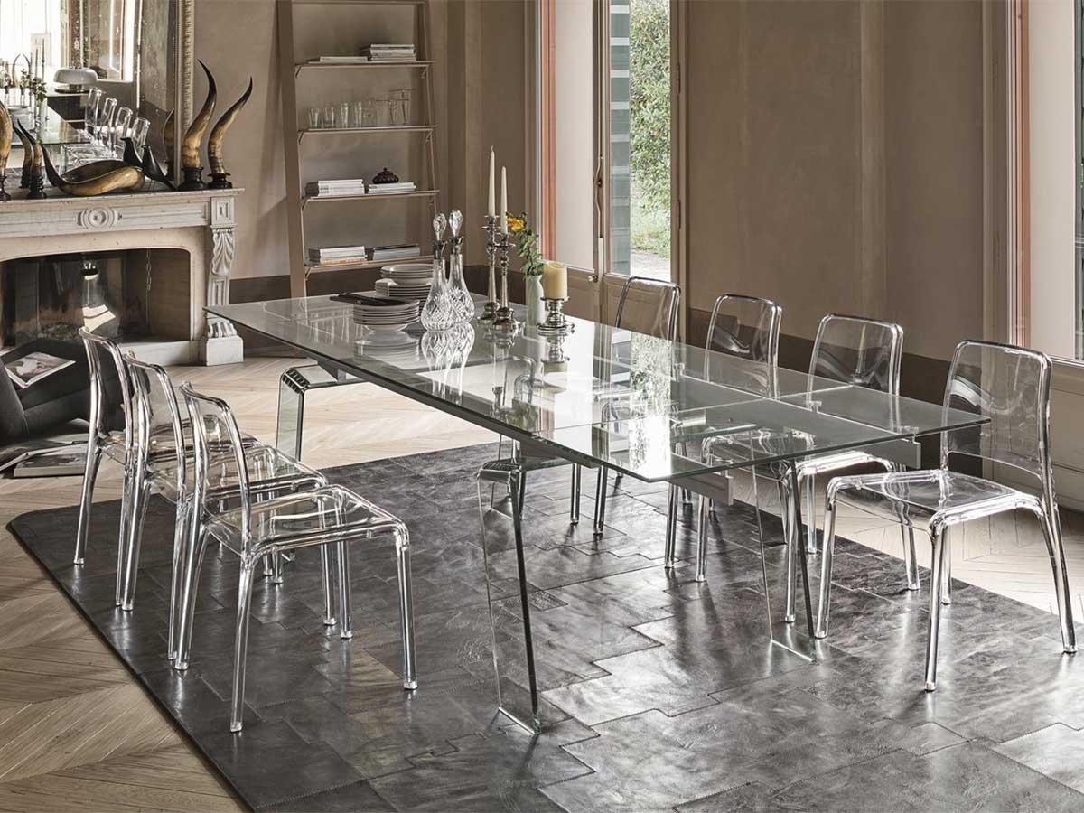Tavolo Cristallo In Vetro.Bianco Mobili Tavoli E Sedie